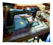 Sewing Machine With Sissors Tapestry