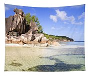 Seychelles Rocks Tapestry