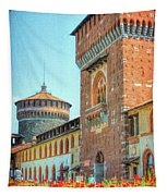 Sforza Castle Milan Italy Tapestry