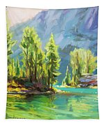 Shades Of Turquoise Tapestry