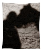 Shadow Of Horse And Girl - Vertical Tapestry