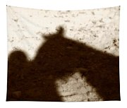 Shadow Of Horse And Girl Tapestry
