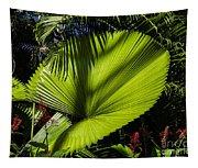 Shadow On A Ruffled Fan Palm Tapestry