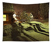 Shadows Of Winters Night Tapestry