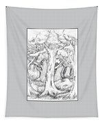 Shady Forest Of Trees Tapestry