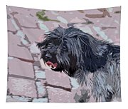 Shaggy Pup Abstract Tapestry