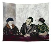 Shahn: Man & Women Tapestry