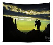 Sharing A Monument Valley Sunrise Tapestry