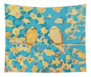 Sharing A Sunny Perch Tapestry