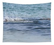 Shark Catching A Fish Tapestry