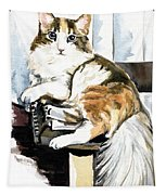 She Has Got The Look - Cat Portrait Tapestry