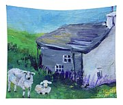 Sheep In Scotland  Tapestry
