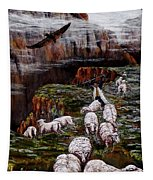 Sheep In The Mountains  Tapestry