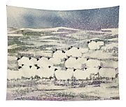 Sheep In Winter Tapestry