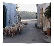 Sheeps Of Crete Tapestry