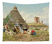 Shepherds Resting In The Roman Campagna Tapestry