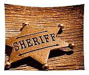 Sheriff Badge - Sepia Tapestry