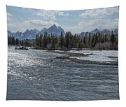 Shimmering Snake River And The Tetons Tapestry