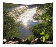 Shimmering Sun Rays On Colorado Springs Tapestry