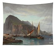 Shipping Off Gibraltar, 1880 Tapestry
