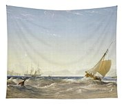 Shipping Off The Coast Tapestry