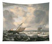 Ships On A Choppy Sea Tapestry