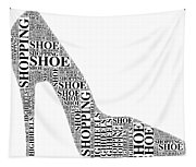 Shoe Shopping Tapestry