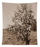 Shoe Tree In Sepia Tapestry