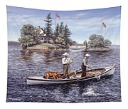 Shore Lunch On The Line Tapestry