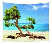 Shoreline At Makalawena Tapestry