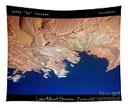 Shores Of Lake Mead Planet Art Tapestry
