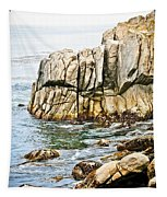 Shores Of Pebble Beach Tapestry