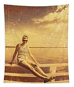 Shorncliffe Pier Pin Up Tapestry