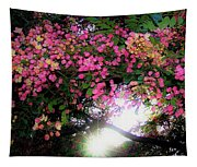 Shower Tree Flowers And Hawaii Sunset Tapestry