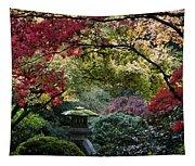 Shrine In Watercolors Tapestry