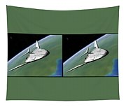 Shuttle X-2010 - Gently Cross Your Eyes And Focus On The Middle Image Tapestry