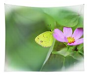 Shy Little Yellow Butterfly Tapestry