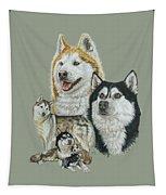 Siberian Husky Tapestry