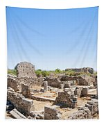 Side Ancient Shop Ruins Tapestry