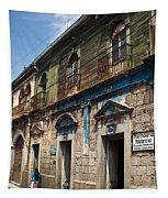 Side Street Quezaltenango Guatemala Tapestry