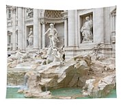 Side View Of The Trevi Fountain In Rome Tapestry