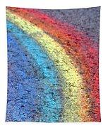 Sidewalk Rainbow  Tapestry