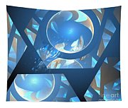 Sienna Blue Honeycomb Tapestry