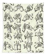 Sign Language Alphabet Tapestry