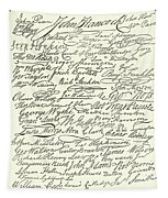 Signatures To The Declaration Of Independence Tapestry
