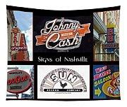 Signs Of Nashville Tapestry