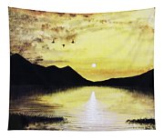 Silhouette Lagoon Tapestry