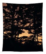 Silhouette Of Forest  Tapestry
