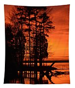 Silhouette Sunset Tapestry