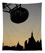 Silhouetted London Eye Capsule Tapestry